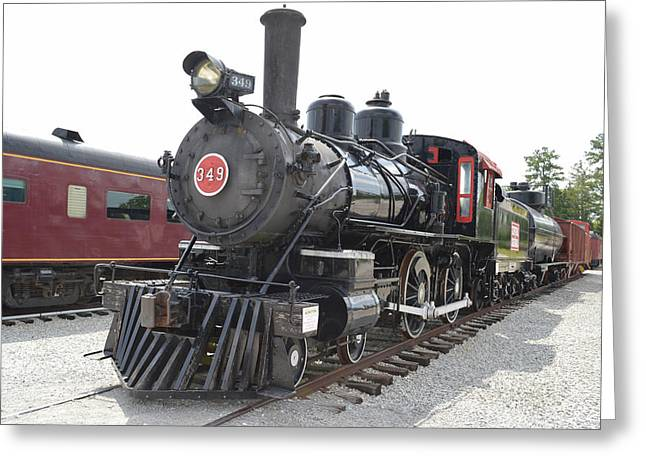 Steam Engline Number 349 Greeting Card