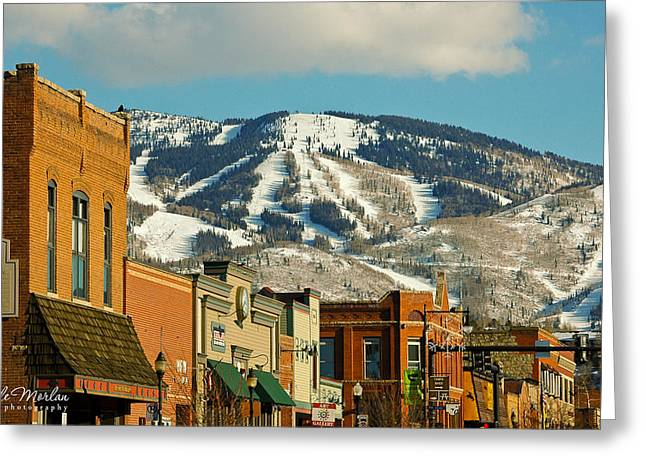 Colorado Artwork Greeting Cards - Steamboat Springs Greeting Card by Rachele Morlan