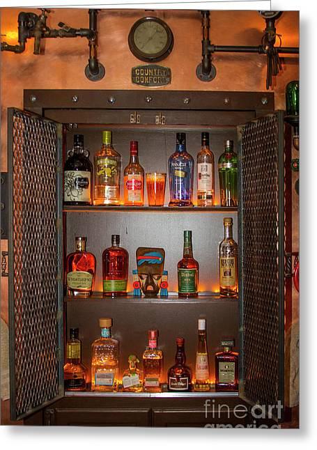 Steampunk Interior Design 4 Liquor Vault Atlanta Mancave Bar Art Greeting Card