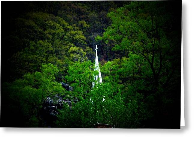 Steeple Greeting Card by Michael L Kimble