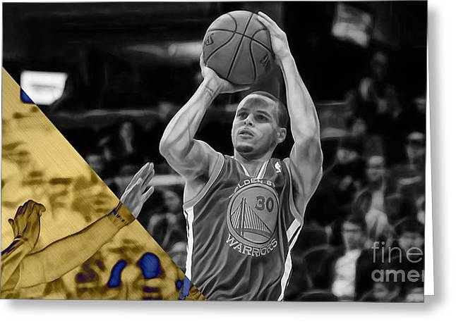 Steph Curry Collection Greeting Card