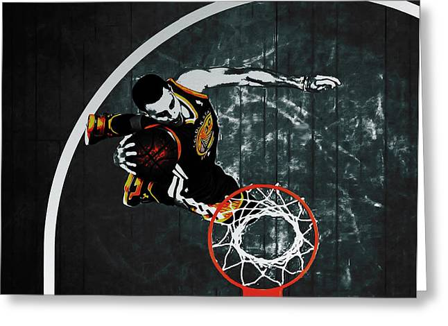 Stephen Curry In Flight Greeting Card by Brian Reaves