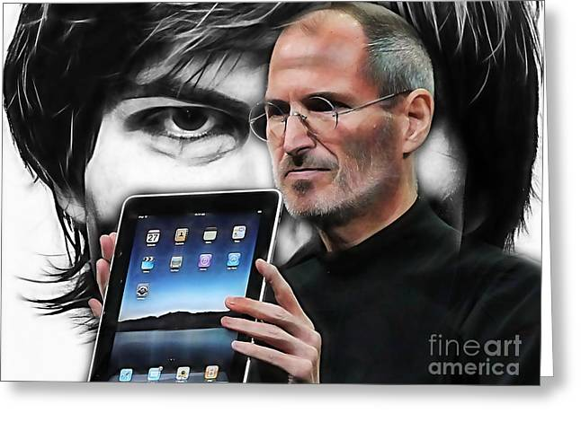 Steve Jobs Collection Greeting Card by Marvin Blaine