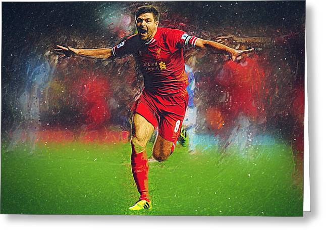 Steven Gerrard Greeting Card by Semih Yurdabak