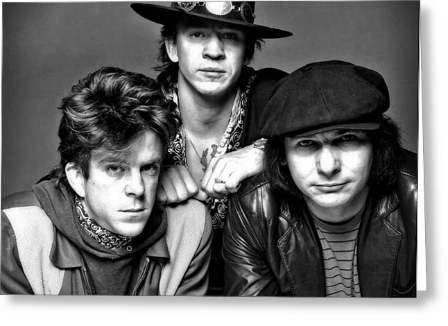 Stevie Ray Vaughan And Double Trouble 1983 Greeting Card by Mountain Dreams