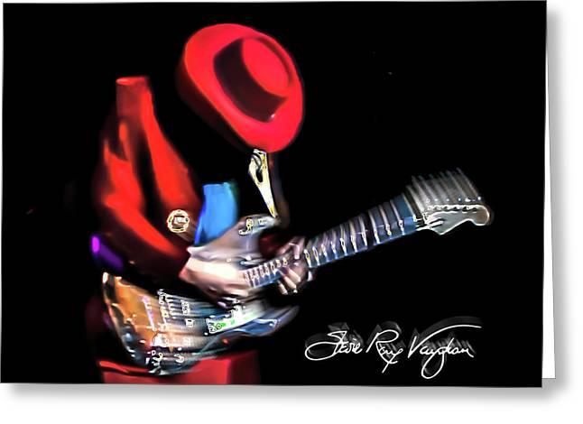 Stevie Ray Vaughan - Texas Flood Greeting Card