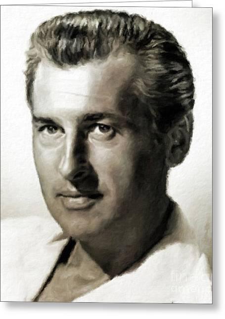 Stewart Granger, Vintage Hollywood Actor Greeting Card
