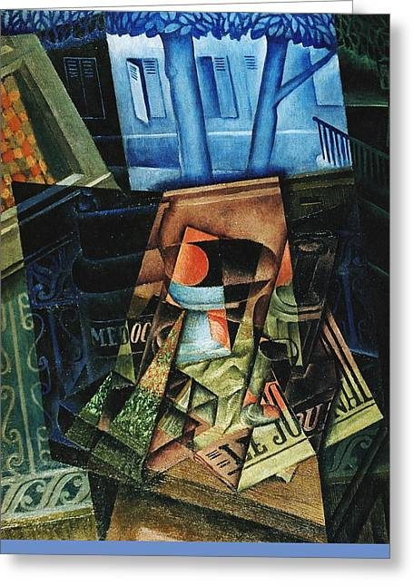 Still Life Before An Open Window, Place Ravignan Greeting Card by Juan Gris