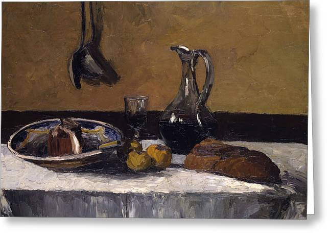 Still Life Greeting Card by Camille Pissarro