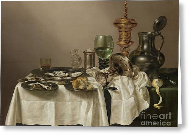 Still Life With A Gilt Cup Greeting Card by R Muirhead Art