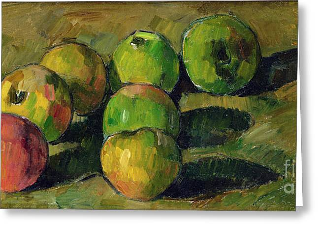 Nature Morte Greeting Cards - Still Life with Apples Greeting Card by Paul Cezanne