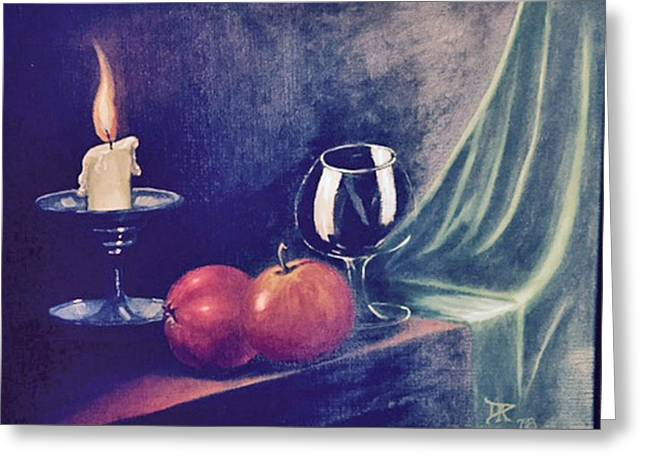 Still Life With Candle Greeting Card