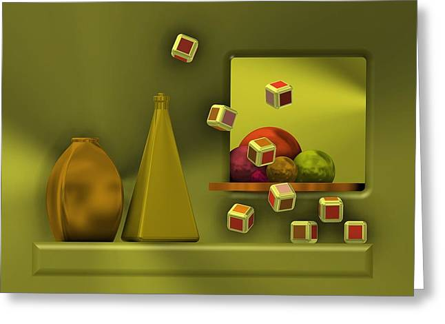 Still Life With Cubes Greeting Card