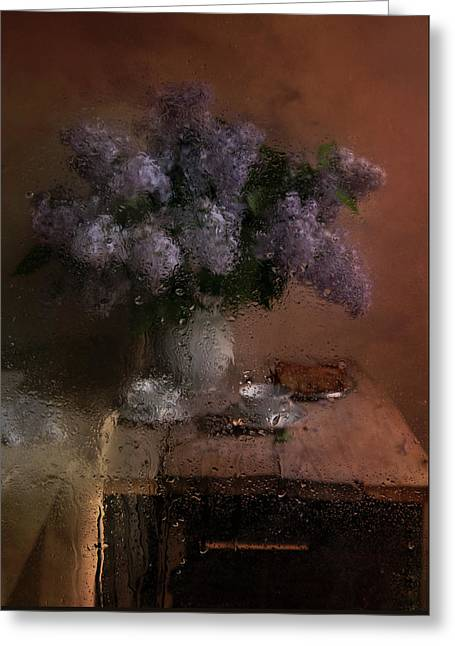 Still Life With Fresh Lilacs Greeting Card
