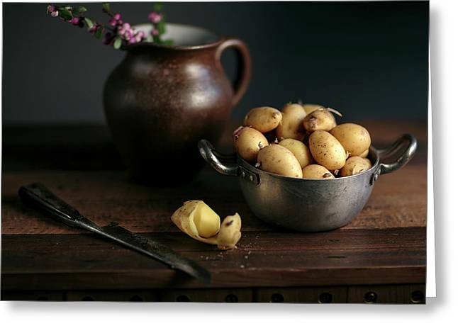 Still Life With Potatoes Greeting Card