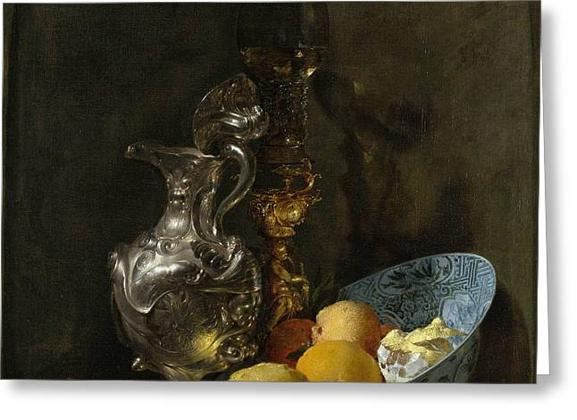 Still Life With Silver Pitcher Greeting Card