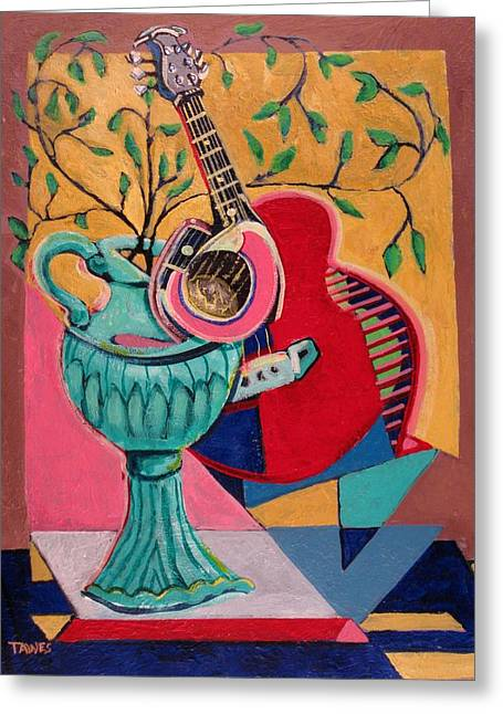 Still Life With Sound Greeting Card by Dennis Tawes