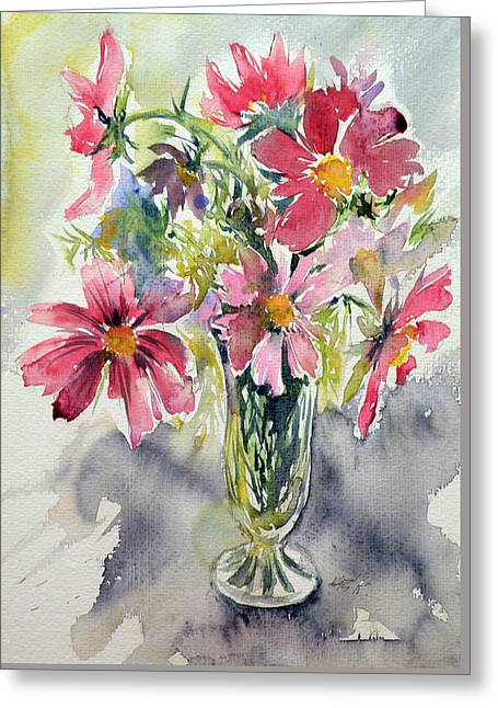 Still Life With Windflowers Greeting Card