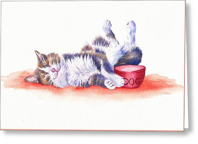 Stolen Lunch Greeting Card by Debra Hall