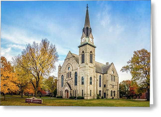 Stone Chapel Fall Greeting Card