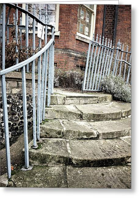 Stone Steps Detail Greeting Card by Tom Gowanlock