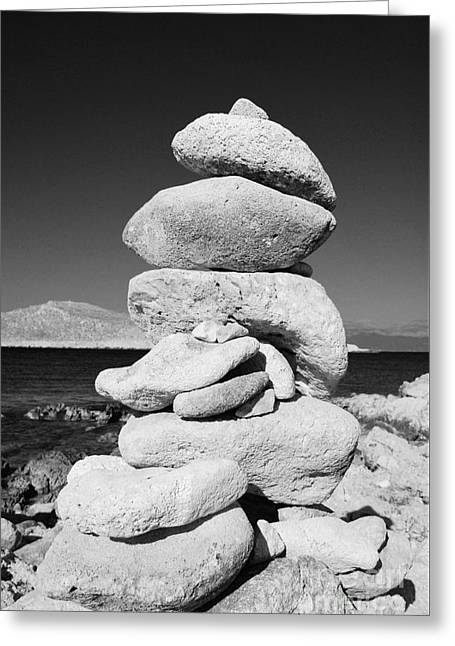Stone Tower On Halki Island Greeting Card