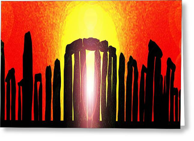 Stonehenge Solstice Greeting Card by Neil Finnemore