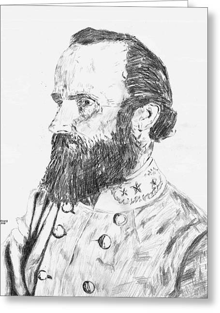 Stonewall Jackson Greeting Card by Dennis Larson