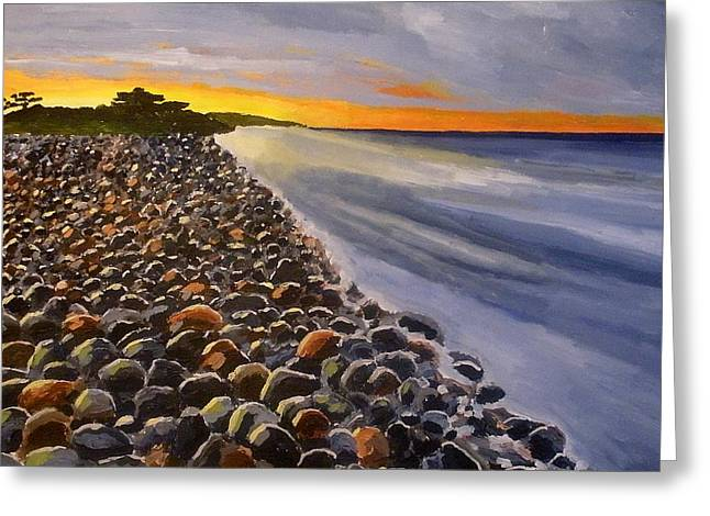 Stony Beach Greeting Card by Mats Eriksson