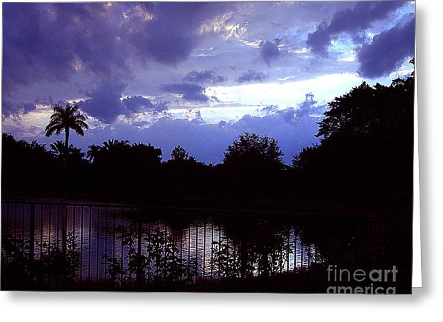 Greeting Card featuring the photograph Storm Clouds Gather by Merton Allen