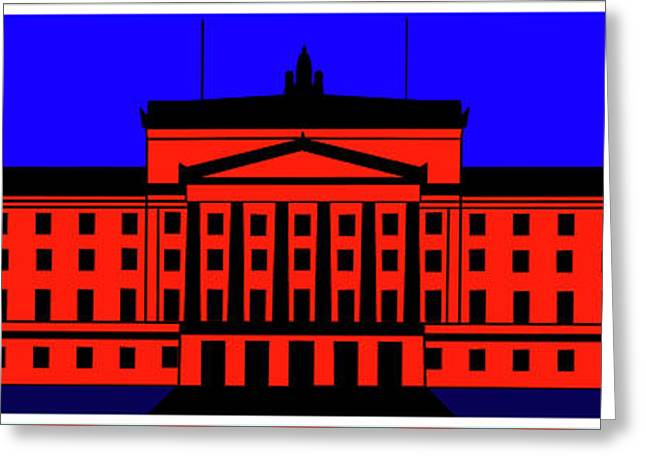 Stormont Belfast Greeting Card by Asbjorn Lonvig
