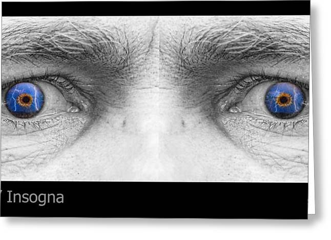 Stormy Angry Eyes Greeting Card by James BO  Insogna