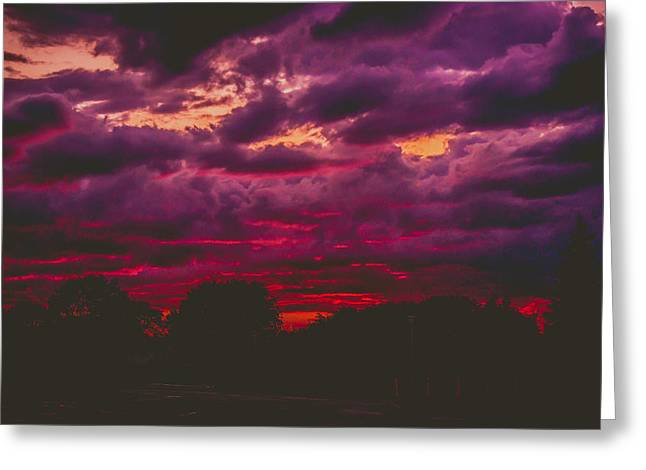 Stormy Sunset Greeting Card by Kristin Hunt
