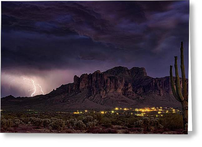 Stormy Superstition Skies  Greeting Card