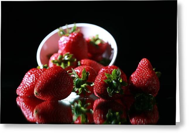 Strawberries Greeting Card by Michael Ledray