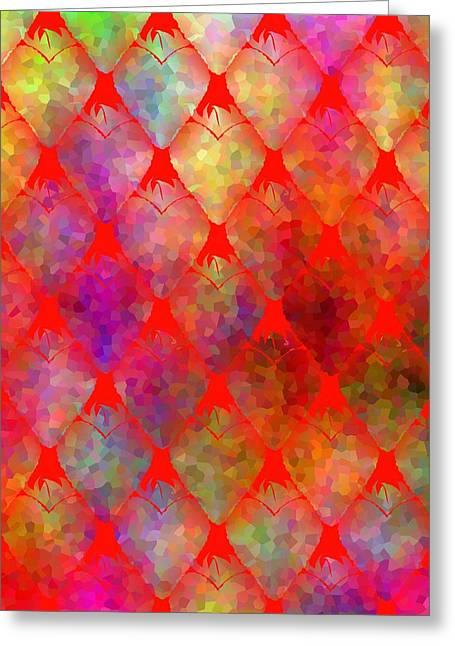 Strawberry Hearts Greeting Card by Kathleen Sartoris
