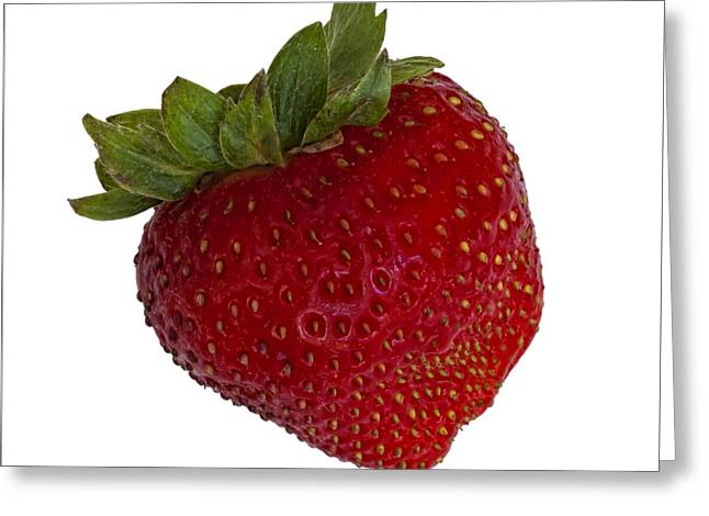 Strawberry Greeting Card by Robert Ullmann