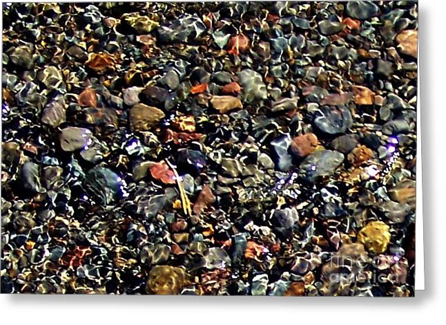 Stream Over Pebbles Greeting Card by Erica Hanel