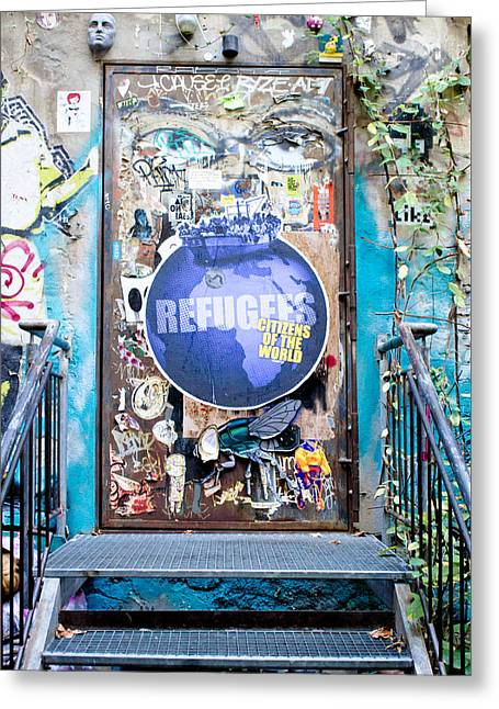 Street Art Greeting Card by Tom Gowanlock