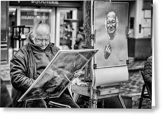 Street Artist In Montmartre Greeting Card