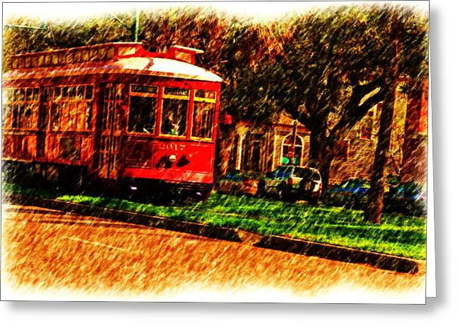 Street Car Greeting Card