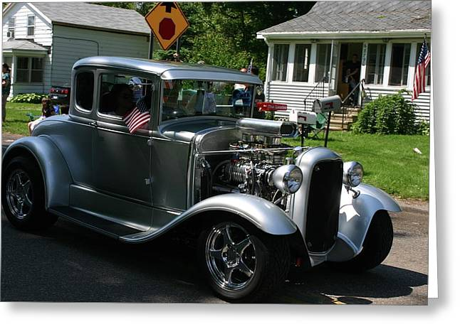 Street Rod Greeting Card by Vincent Duis