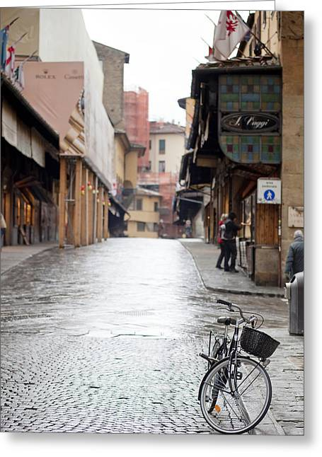 Michelangelo Photographs Greeting Cards - Streets of Florence Greeting Card by Andre Goncalves