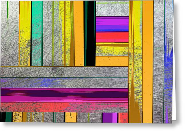 Stripes - Abstract Art Greeting Card
