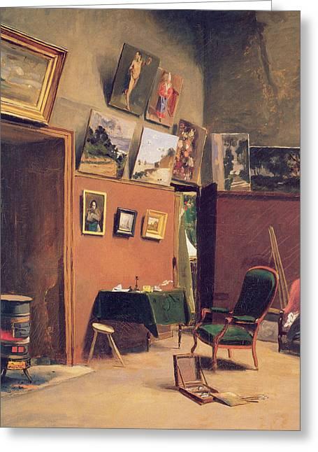Studio In The Rue De Furstenberg Greeting Card