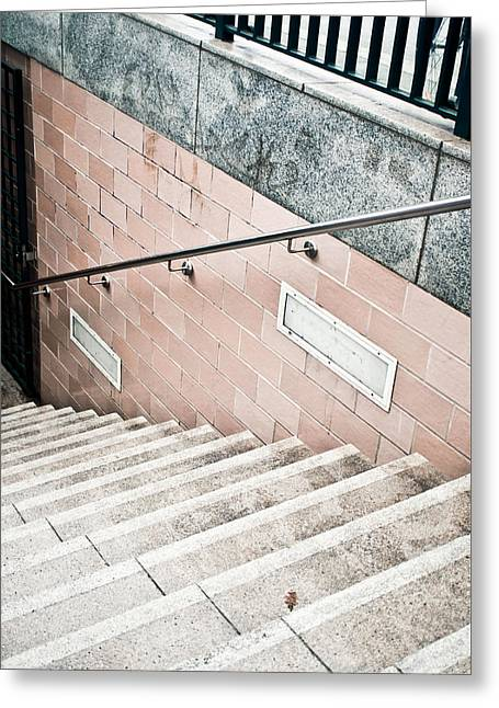 Subway Stairs Greeting Card by Tom Gowanlock