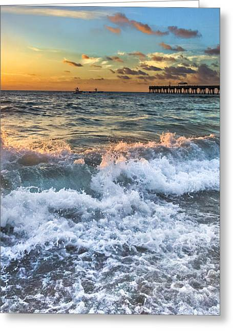 Sudsy Vertical IIi Greeting Card by Debra and Dave Vanderlaan