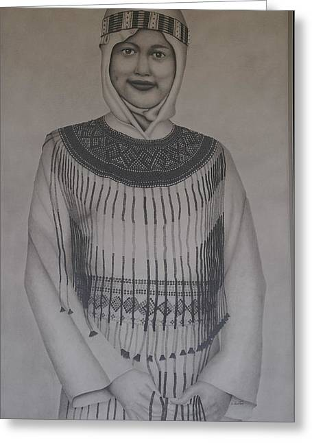 Sulawesi Girl Greeting Card by Brian Leverton