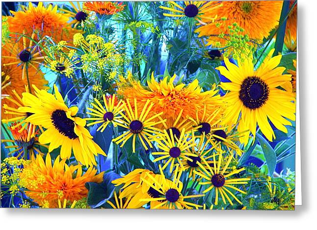 Greeting Card featuring the photograph Summer Bouquet by Byron Varvarigos