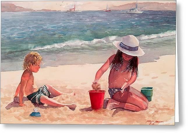 Summer Days Greeting Card by Laura Lee Zanghetti